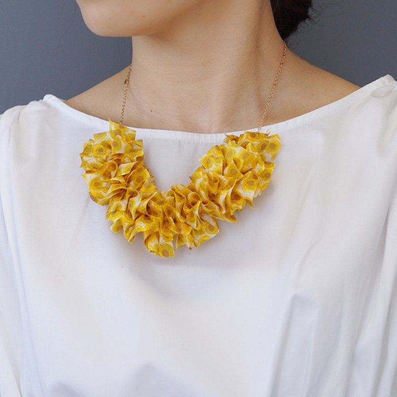 【14KGF】 Liberty frills necklace 【Zanzi · Sunbeam】