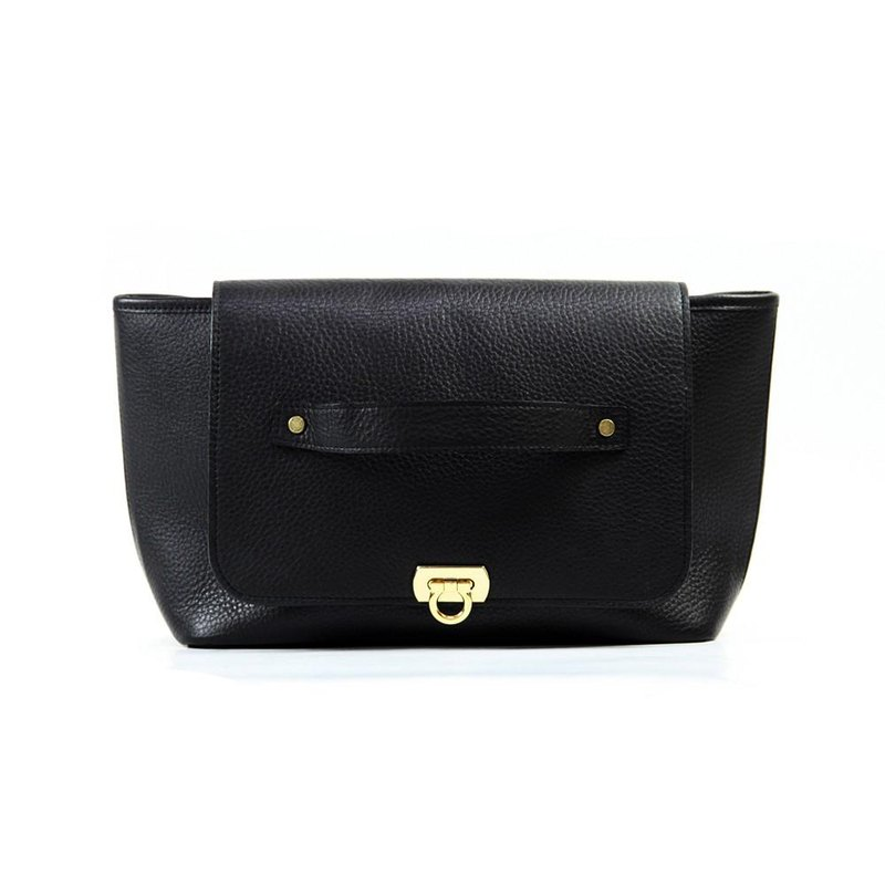 TJ Rakunaka bag [fine cowhide soft shrink leather black] / TTB015B /
