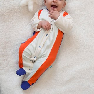 SanBelle Baby Pajama★Anti-humidity★0-12m Orange×Cream