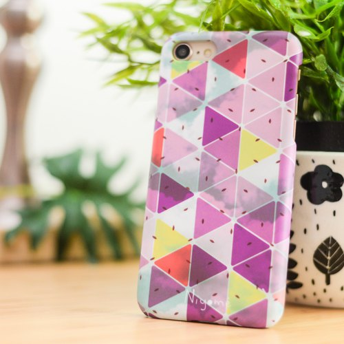iphone case purple triangle for iphone5s, 6s, 6s plus, 7, 7+, 8, 8+, iphone x