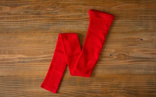 Linen knit leggings (Red) one-size-fits-all