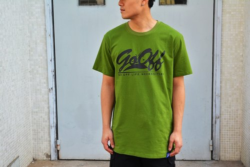 GO OFF BIG LOGO T-SHIRT AMY GREEN 大LOGO 短袖T-SHIRT 军绿色