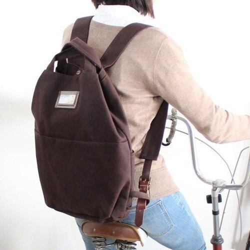 camp- chocolate (Kurashiki canvas backpack)