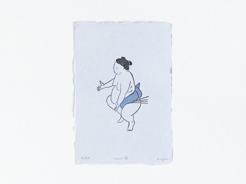 Sumo No.6 - Letterpress Print Limited Edition of 25
