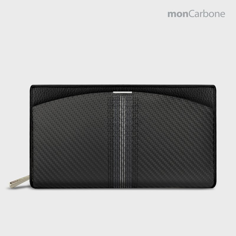 monCarbone BlackLabel 刺绣旅行夹