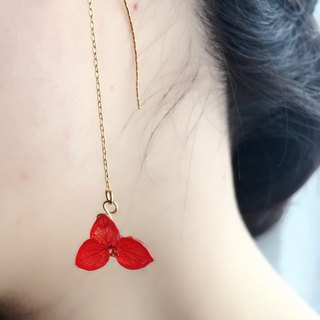 Hydrangea's American Earrings*Red*