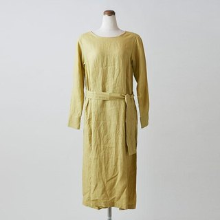 Enrica × Kagure linen one piece (Yellow)