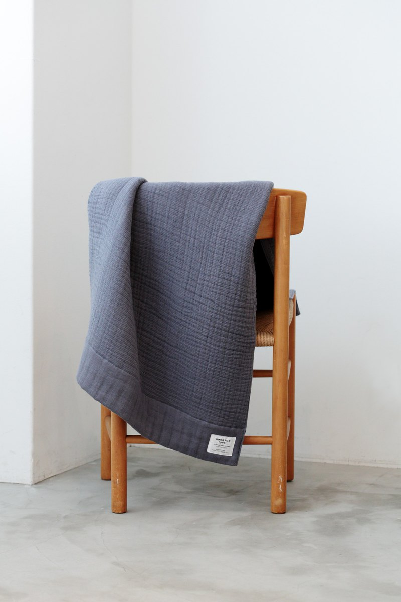 INNER PILE TOWEL BATH TOWEL Navy made in Japan 63×130cm