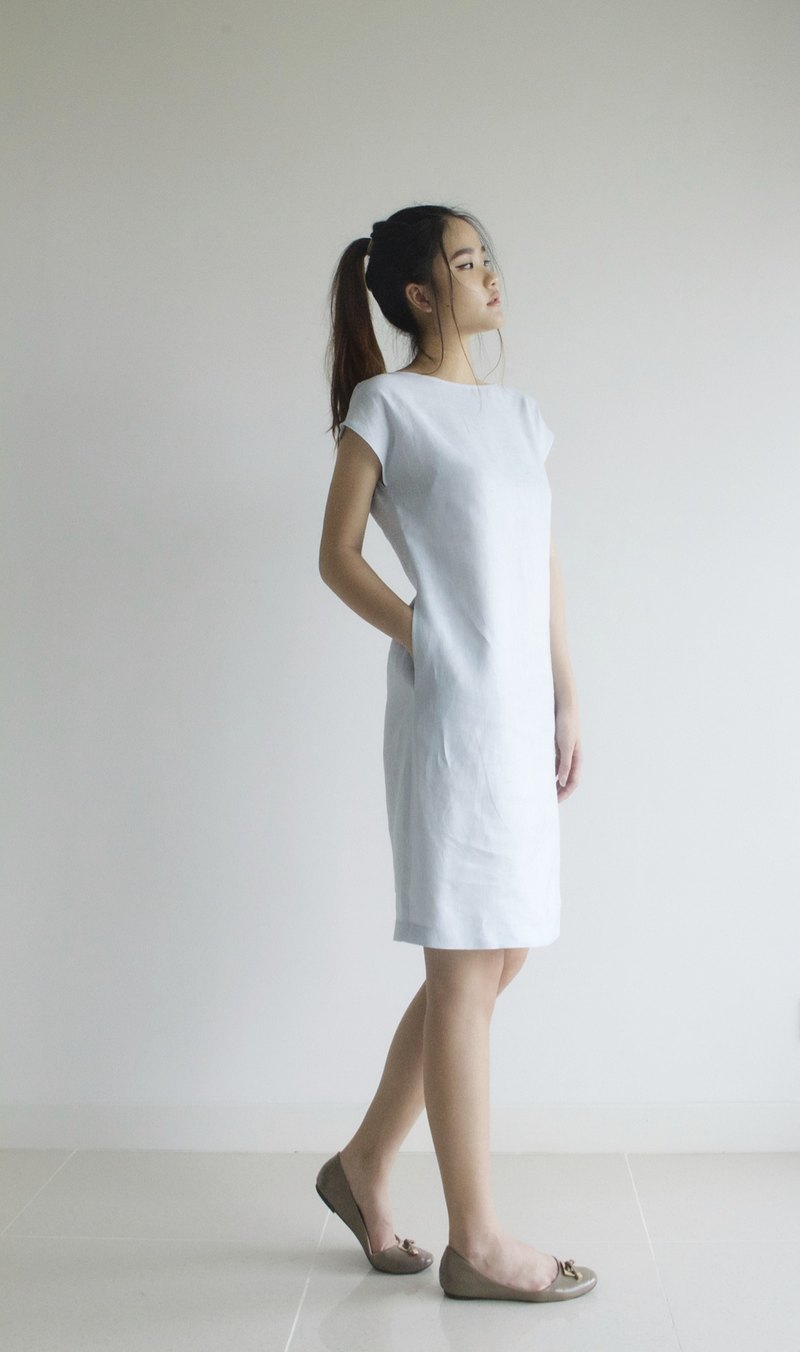 Sale 30% off linen dress / linen clothing / linen for women / short dress E 40 D