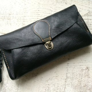 "Leather wallet ""series-envelope"" Black"