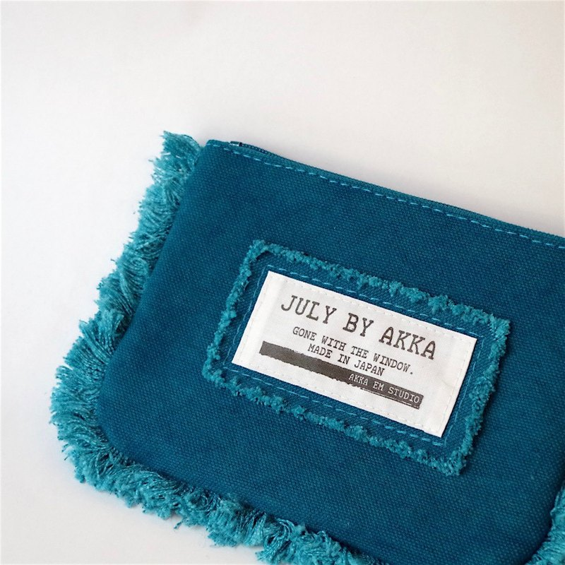 MOF Kurashiki Canvas Fringe Mini Pouch Rich blue