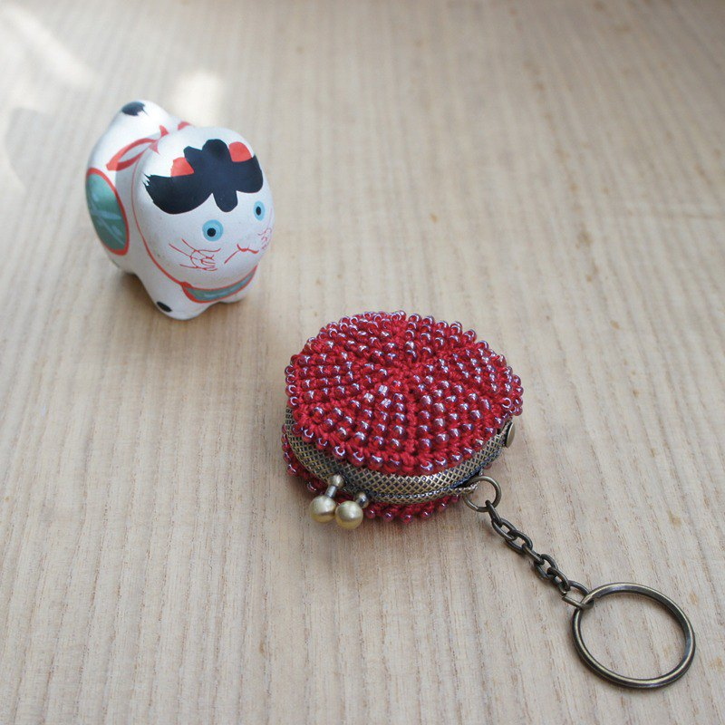 Ba-ba handmade ☆ beads crochet mini-coinpurse (No. 776)