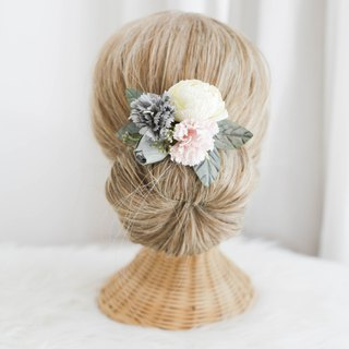 Sweet Carnation - Paper Flower Hair Comb
