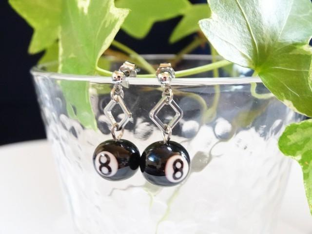 MA2 billiards glass earrings