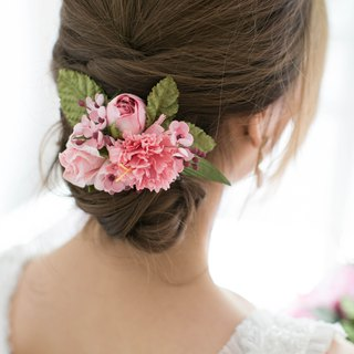 Pink Bloom - Paper Flower Hair Comb