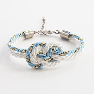Glitered blue/White infinity bracelet