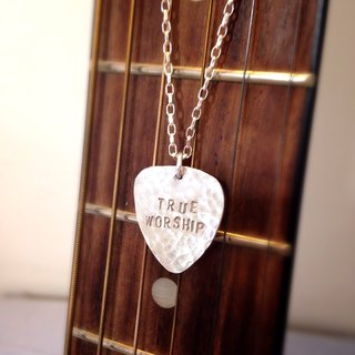 MIH  金工首饰 | 吉它pick 纯银项链 guitar pick sterling silver necklace