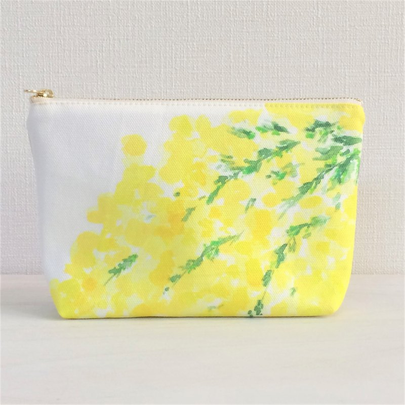 Bloom Flower Machi with Pouch Floral Pattern Yellow