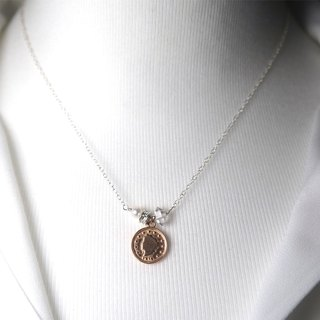 Rose Gold Coin Pendant Necklace Delicate Rose Gold Necklace Dainty Coin Necklace Minimalized Necklace