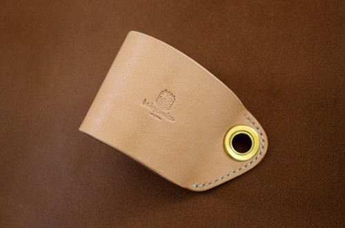 Genuine Leather Coffee Sleeve Hand Cover Leather Sleeve Hand Sewn Nume Leather Natural Natural [Made to Order]