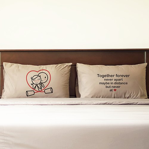 Together Forever Couple Pillowcases Set of 2