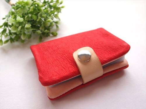 [Classic Red] pig leather soft card case [MTO]