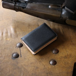 Japan Manufacturer's cowhide name One-shirt name single case black black Weinheimer made in JAPAN handmade leather card case