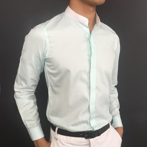 Mint green long-sleeved shirt