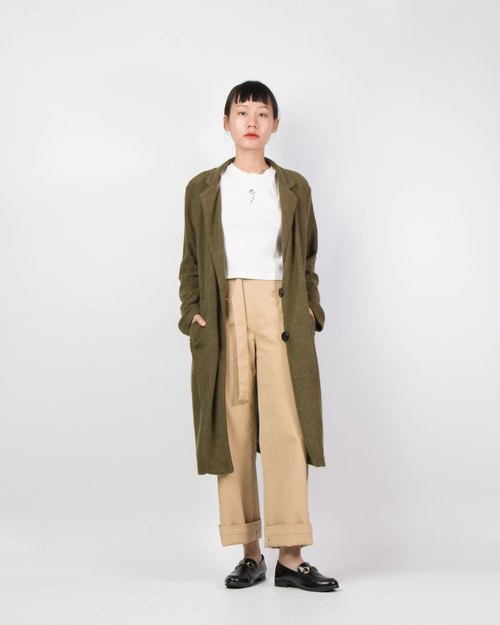 Anode high waisted trousers in khaki
