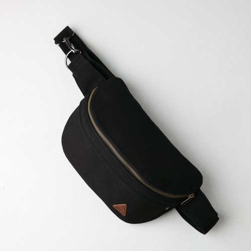 Black Crossbody Bag made from Water Repellent Canvas