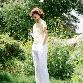 Slim Trousers in White