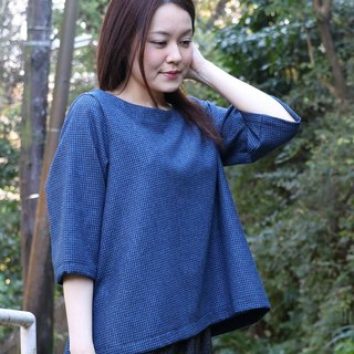 Chidori Check Wool Blouse Short Length