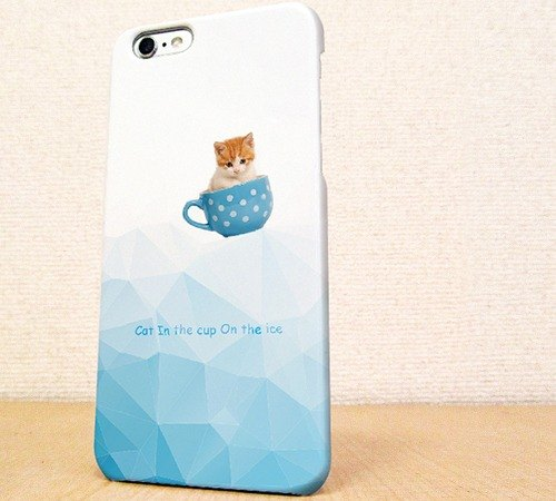 (Free shipping) iPhone case GALAXY case ☆ Cat in the cup