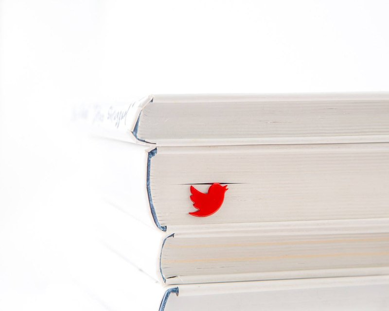Metal Book Bookmark Red Bird // Gift for book lover // Free shipping worldwide /