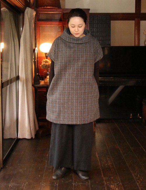 Wool check off turtle tunic