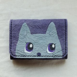Handmade Japanese paper coin case <cat>