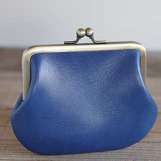 Square type leather spicy blue