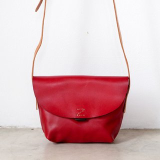 Small Red Cross-body Leather Bag