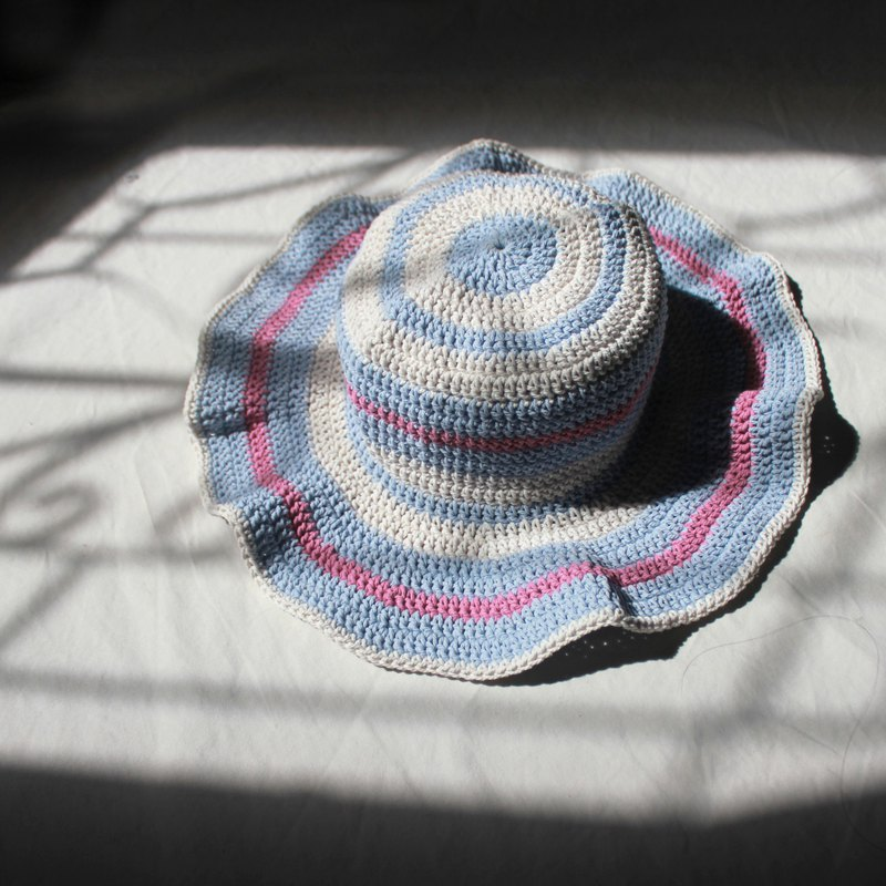 Striped Crochet Hat ,Unicorn Pastel Hat ,Summer Hat ,Baby Hat