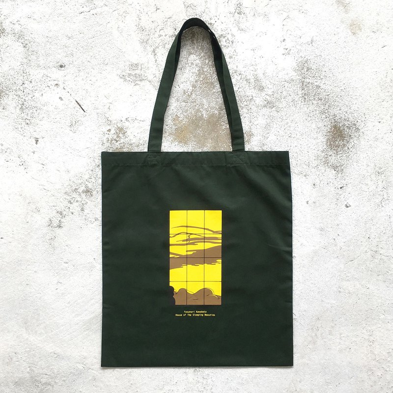 House of The Sleeping Beauties : Tote - Bag (Dark Green)