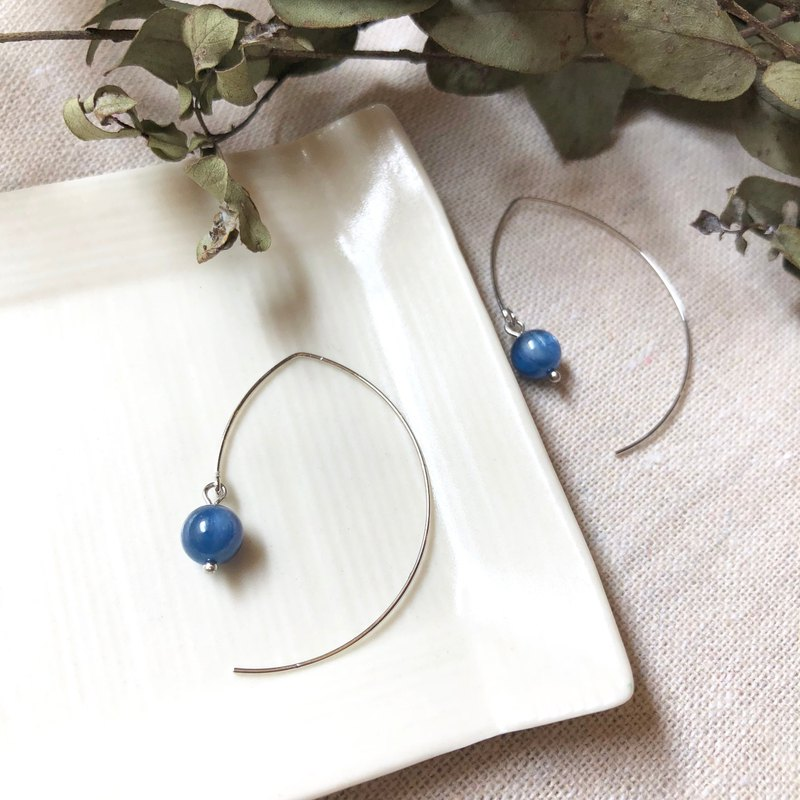 蓝晶石耳环 Kyanite Earrings