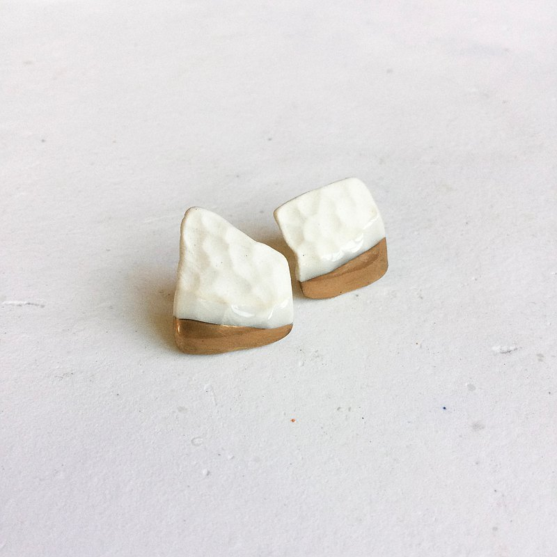 Ceramic earrings birch