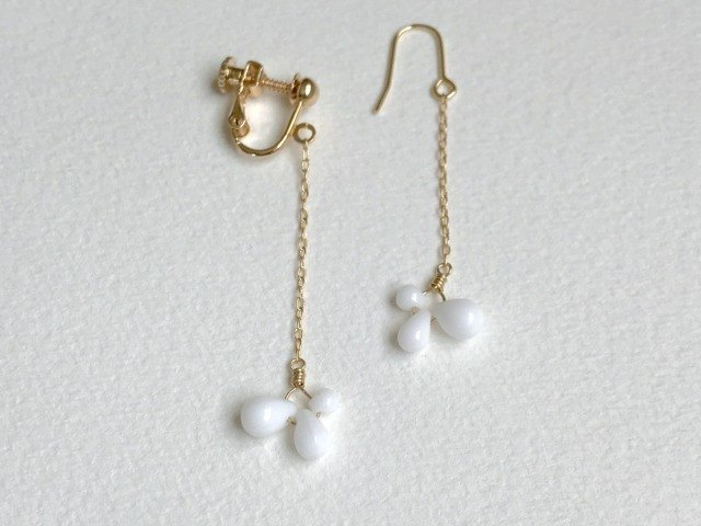 Lait(clip-on/pierced earrings)