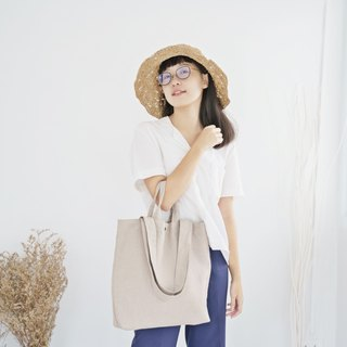 Carry Linen Tote Bag (Beige)
