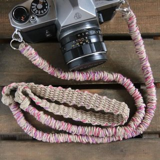 MIX hemp camera strap pink / belt