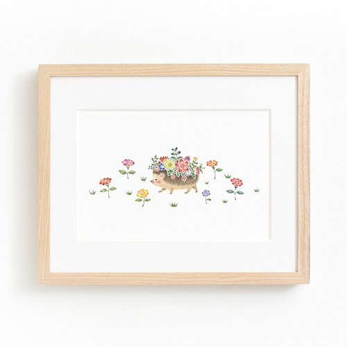 "Picturesque living. Framed Art Print ""Flower-decorated wind fair Mari"" FAP-A 5253"
