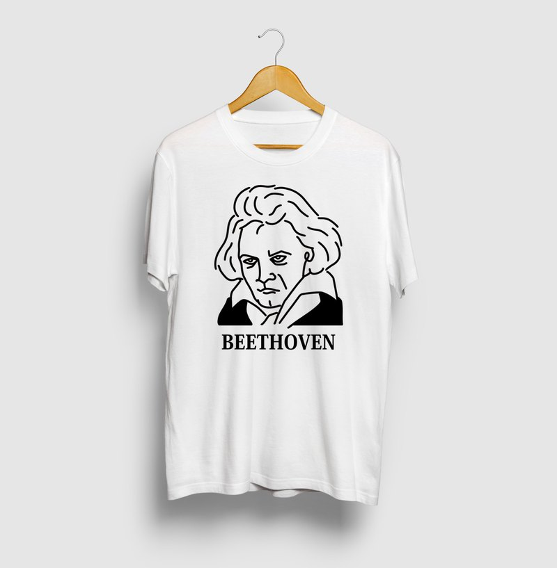 Beethoven BEETHOVEN Illustration T-shirt Musician Great Art