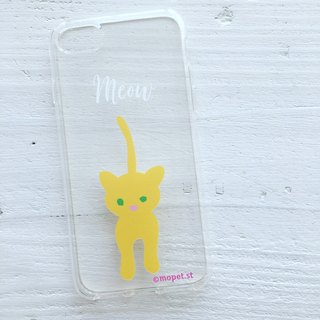 #personalize#iPhonecase/meow yellow cat/original illustration