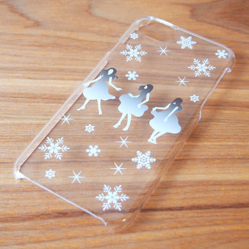 【Clear iPhone case】Dance with Snow