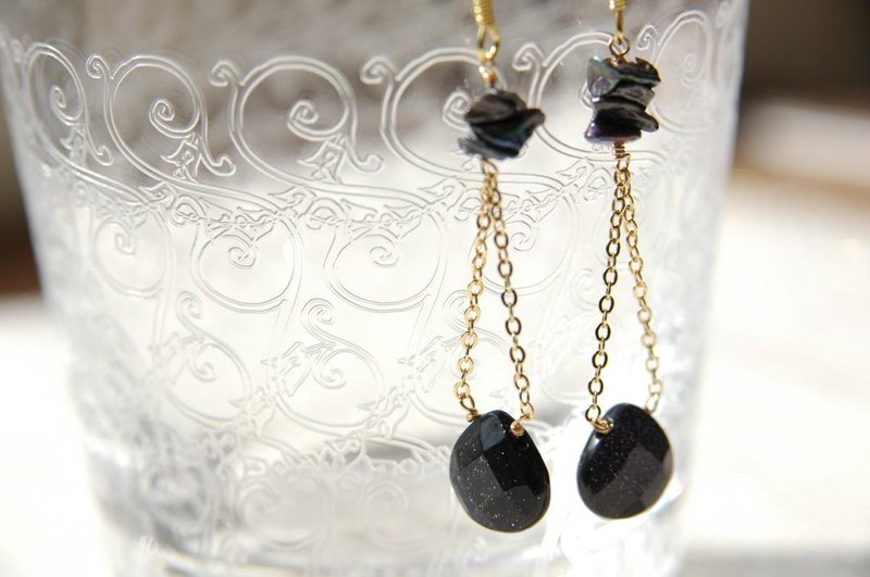 Blue Sand Stone earrings